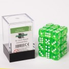 Blackfire Dice Cube - 12mm D6 36 Dice Set - Transparent Grass Green 91703