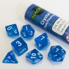 Blackfire Dice - 16mm Role Playing Dice Set - Crystal Blue (7 Dice) 40033