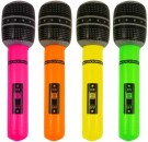 INFLATABLE MICROPHONE 66CM 4 ASTD NEON COLS X99334