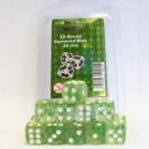Blackfire Dice - 16mm D6 Dice Set - Glitter Green (15 Dice) 40015