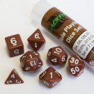 Blackfire Dice - 16mm Role Playing Dice Set - Brown (7 Dice) 40031
