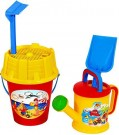 AVC 1047  Beach Set,Decorated Cube, Sieve, shovel, rake, watering can /Toys