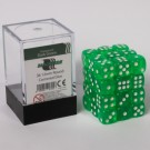 Blackfire Dice Cube - 12mm D6 36 Dice Set - Transparent Dark Green 91705