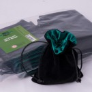 Blackfire Dice - Velvet Dice Bag with Green Satin Lining & No Logo (20 Bags)