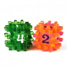 Blackfire Constructible Dice - Light Red & Green 40171