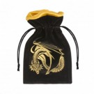 Galda spēle Dragon Black & golden Velour Dice Bag BDRA121