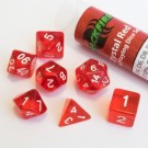 Blackfire Dice - 16mm Role Playing Dice Set - Crystal Red (7 Dice) 40032