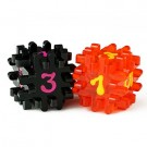 Blackfire Constructible Dice - Black & Red 40170