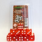 Blackfire Dice - 16mm D6 Dice Set - Transparent Red (15 Dice) 40024