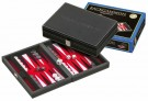 Galda spēle Philos Tinos, red, small, Backgammon, synthetic leather, magnetic lock 1711 nardi