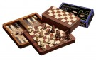 Galda spēle Philos Chess-Backgammon-Checkers-Travel-set, magnetic lock 2517 šahs nardi dambrete - ir veikalā