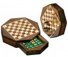 Galda spēle Philos Travel Chess Set Octagon, mini, field 10 mm, magnetic lock 2718 šahs