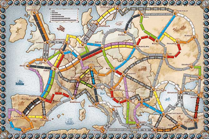Board Game Ticket to Ride Europe   eveikals.lv