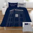 Dr Who Classic Tardis Double Panel Duvet