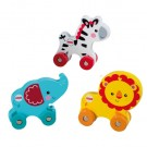Fisher Price - Happy People Zebra On Wheels Wooden 41201-2