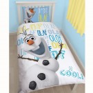 Disney Frozen Olaf Single Panel Duvet Set - bērnu gultas veļa