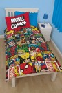 Disney Marvel - Comics Defenders - Single Rotary Duvet Set - bērnu gultas veļa