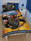 Dreamworks Dragons Toothless - Single Panel Duvet Set - bērnu gultas veļa