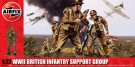 Airfix	 - Wwii British Infantry Support Set Series 4 Plastic Figures 1:32 Scale A04710