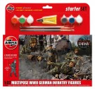 Airfix - Wwii German Infantry Multipose Starter Gift Set 1:32 Scale A55210