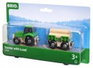 Brio - Tractor With Wood Trailer Colorful 33799
