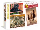 Clementoni - Animals Puzzle 500 2X1000 Pcs 08103