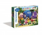 Clementoni - Puzzle 24 Maxi pz Friends in the Jungle Jungle Junction 23607