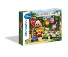 Clementoni - Puzzle 24 Maxi pz Jungle on Wheels Jungle Junction 23606