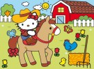 Clementoni - Puzzle Hello Kitty Country Happy Color Puzzle 23618
