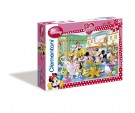 Clementoni - Puzzle Minnie 104 Maxi Tea Time 23630