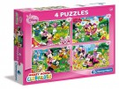 Clementoni - Puzzle Minnie Mouse 4 in 1 07603