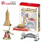 CubicFun - Mini Architecture Series 3 Puzzle C086H