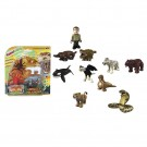 "Famosa - Famoclick Pack of 5 Figures ""Animals in Action"" 700010627"