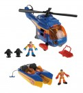Fisher-Price - Miniature Vehicle Helicopter and Boat X2717