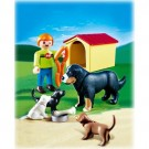 Playmobil 4498 - Life On The Farm Child Family Of Dogs 4498