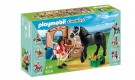 Playmobil 5519 - Black Stallion with Stall Dolls and Playsets 5519