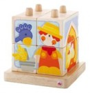 Sevi - Stacking Cubes Farm Wooden Toys 82223