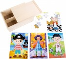 LEGLER Boys in costume 4 in 1 puzzle box 10172