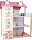 LEGLER Doll House with Pink roof and 3 Stories, Revolving 3126