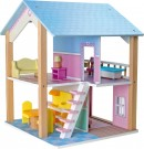 "LEGLER Doll´s House ""Blue Roof, 2 Levels "", rotatable 3110"
