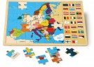 "LEGLER Framed Puzzle ""Europe and Flags"" 8149"