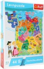 "LEGLER ""Map of Germany"" learning puzzle 10417"
