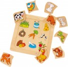 "LEGLER Puzzle ""Which food belongs to whom?"" 2211"