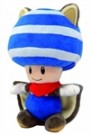 Super Mario Bros Fly,Squirr, Toad Plush Blue 20cm - rotaļlieta
