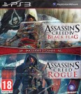 Assassin's Creed IV (4) Black Flag + Assassins Creed Rogue Playstation 3 (PS3) video spēle
