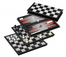 Galda spēle Philos Chess-Backgammon-Checkers-Set, field 37 mm, magnetic 2506 šahs nardi dambrete