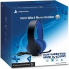 Playstation 4 (PS4) Official Sony Wired Silver Headset - austiņas
