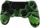 Pro Soft PS4 Silicone Protective Cover with Ribbed Handle Grip (Camo Green)