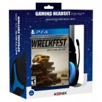 Konix Gaming Headset PS-400 with Wreckfest Playstation 4 (PS4) video game